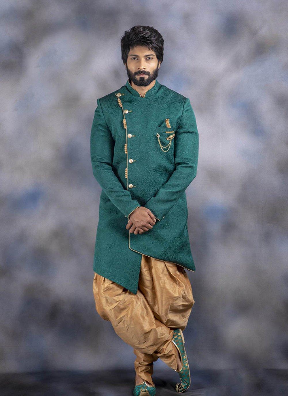 Green Printed Sangeet Indo Western