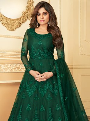 Green Reception Anarkali Salwar Kameez