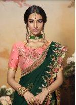 Green Reception Classic Designer Saree
