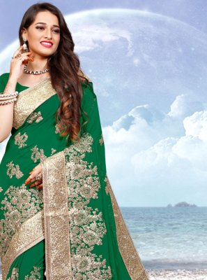 Green Reception Contemporary Saree