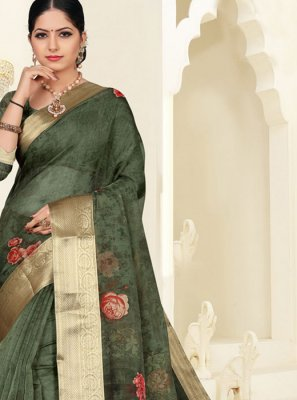 Green Reception Silk Saree