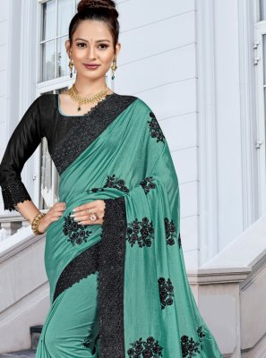 Green Resham Classic Saree
