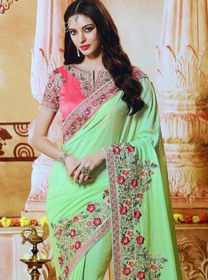 Green Silk Border Trendy Saree