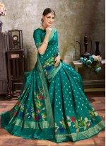 Green Silk Ceremonial Traditional Saree
