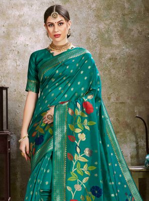 Green Silk Ceremonial Traditional Saree