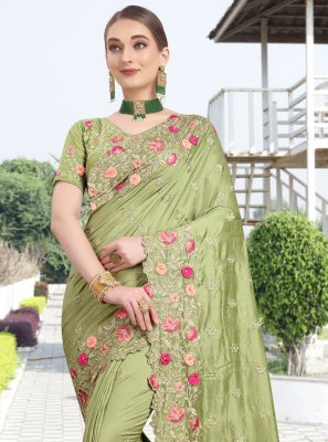 Green Silk Classic Designer Saree