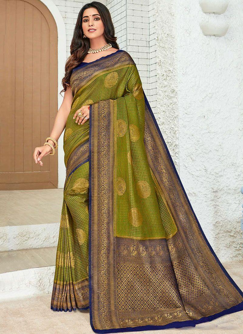 Green Silk Classic Saree
