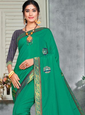 Green Silk Classic Saree