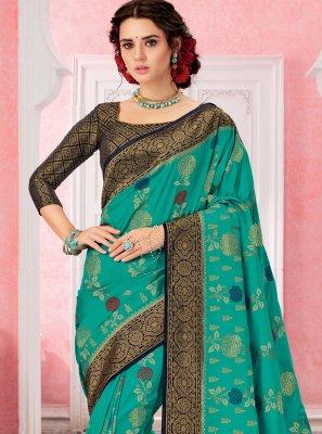 Green Silk Contemporary Saree