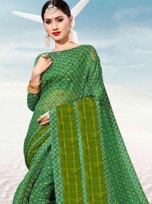 Green Silk Festival Classic Saree