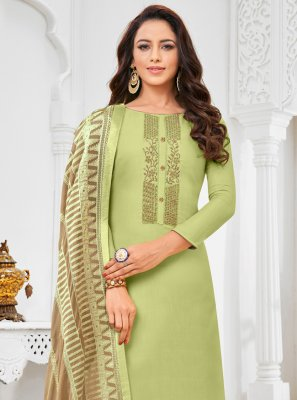 Green Silk Festival Salwar Suit
