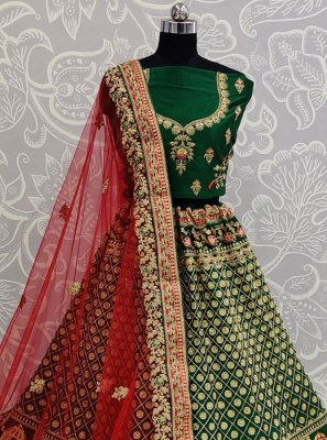 Green Silk Reception Designer Lehenga Choli