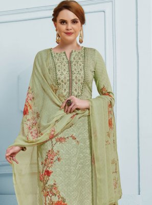 Green Silk Salwar Suit