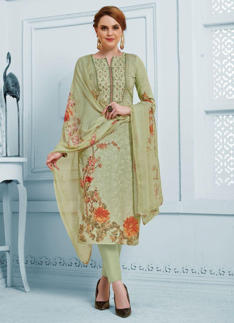 Green Silk Salwar Suit