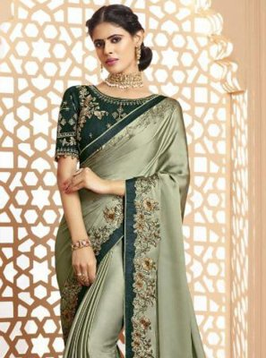 Green Silk Trendy Saree