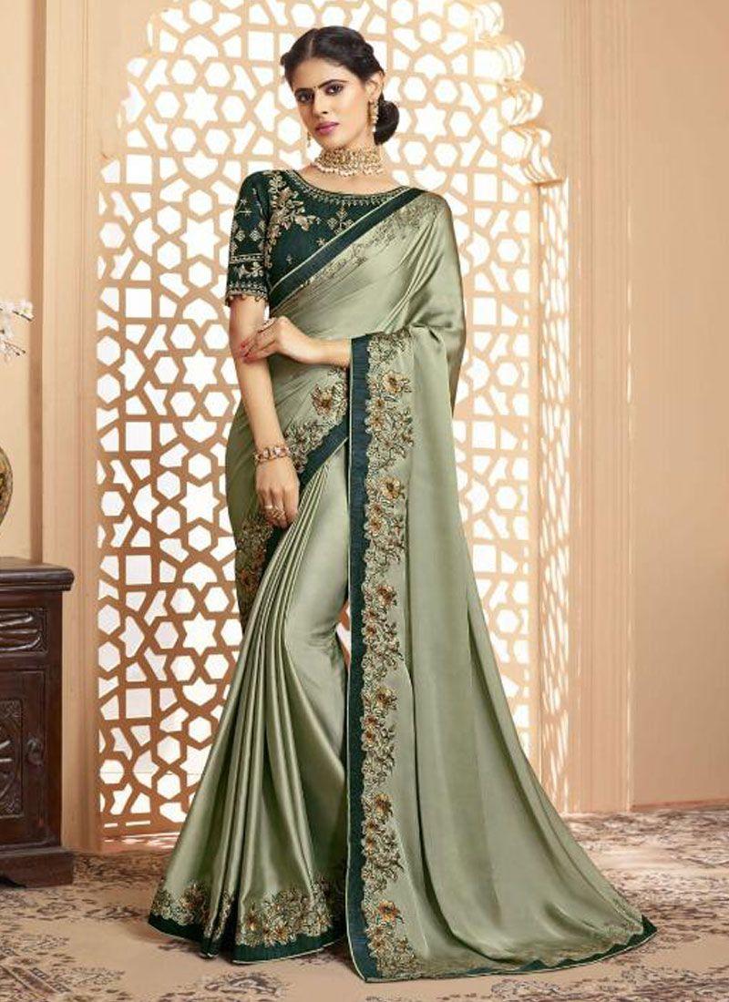 Green Silk Trendy Saree