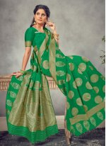 Green Silk Weaving Classic Saree