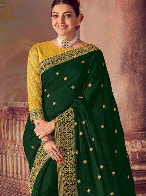 Green Silk Wedding Classic Saree