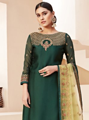 Green Stone Reception Bollywood Salwar Kameez