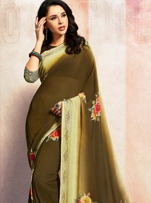 Green Stone Trendy Saree