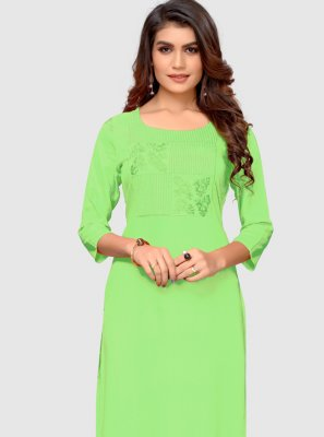 Green Thread Casual Kurti