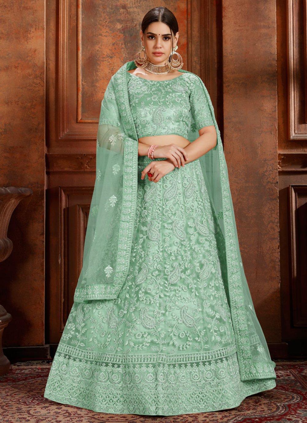 Green Thread Ceremonial Designer Lehenga Choli