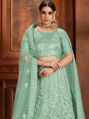 Green Thread Ceremonial Designer Lehenga Choli