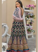 Green Velvet Wedding A Line Lehenga Choli