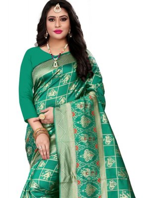 Green Weaving Banarasi Silk Casual Saree