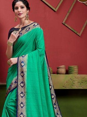 Green Weaving Classic Saree