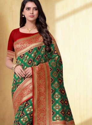 Green Weaving Saree