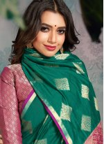Green Weaving Silk Classic Saree