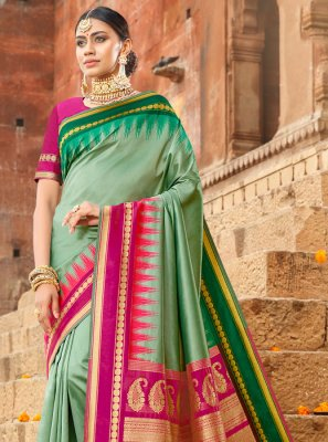 Green Weaving Silk Saree