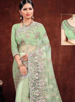 Green Wedding Classic Saree