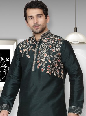 Green Wedding Kurta