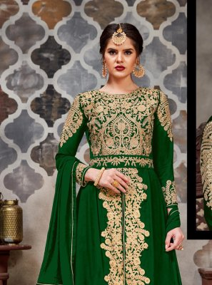 Green Wedding Long Length Salwar Kameez