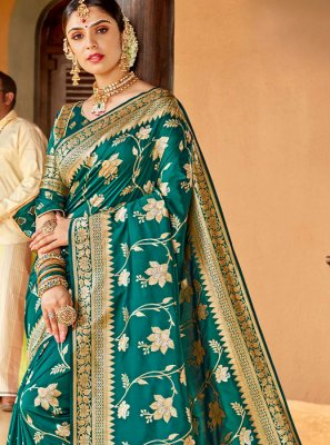 Green Wedding Silk Classic Saree