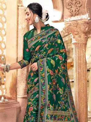 Green Wedding Traditional Designer Saree