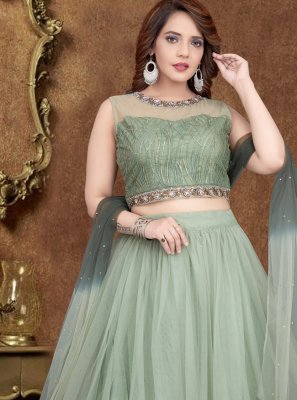 Green Zari Net Designer Lehenga Choli