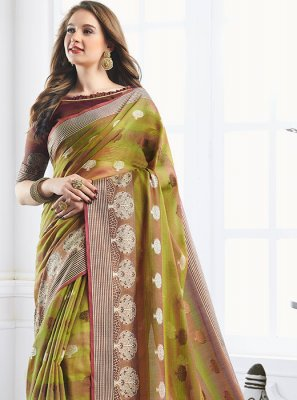 Green Zari Reception Classic Designer Saree