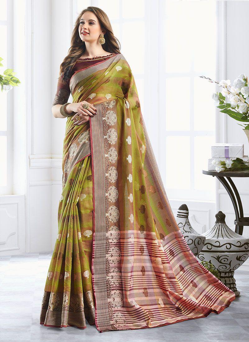 Green Zari Reception Classic Designer Saree