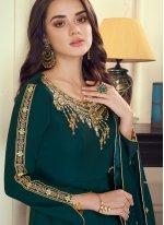 Green Zari Wedding Anarkali Suit