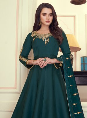 Green Zari Wedding Anarkali Suit