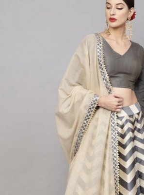 Grey and Multi Colour Ceremonial Readymade Lehenga Choli