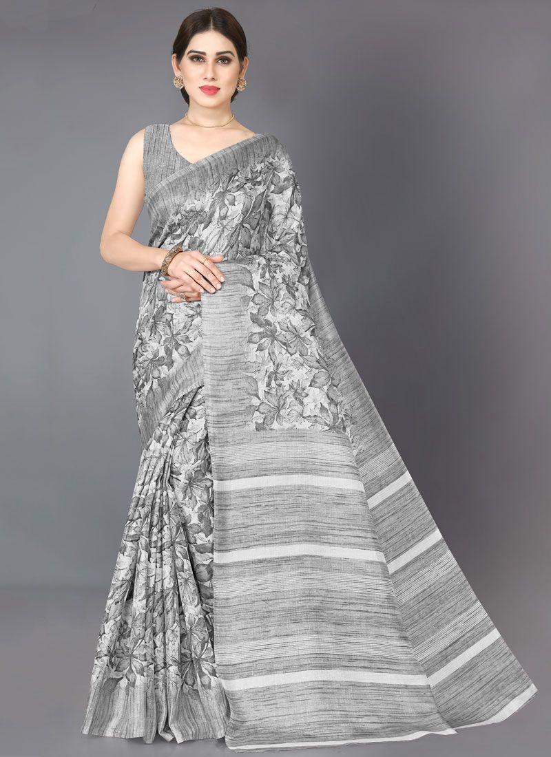 Grey Casual Saree