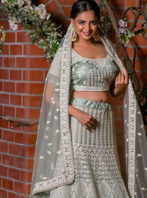 Grey Color Designer Lehenga Choli