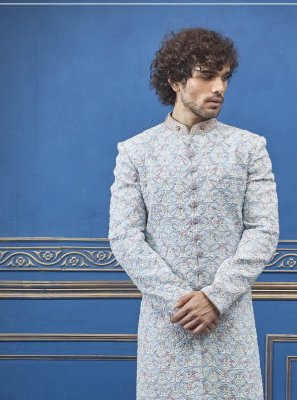 Grey Color Sherwani