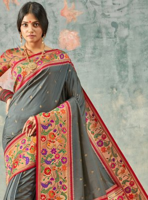 Grey Contemporary Saree