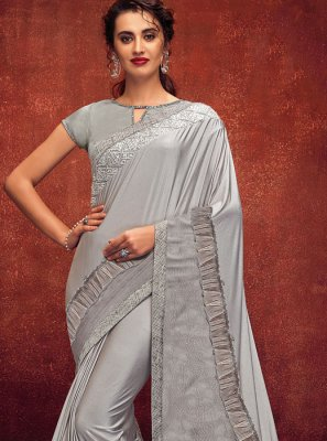 Grey Designer Party Designer Saree