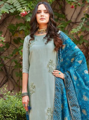 Grey Designer Salwar Suit